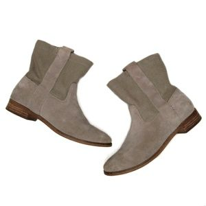 Toms Laurel Slouchy Western Ankle Boots 8 Tan